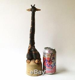Vintage Todd Warner Giraffe Figural Dinner Bell, Studio Pottery 1976 13