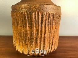 Vintage Tom McMillin Studio Pottery Lidded Vessel Jar Signed MCM Cressey Maxwell