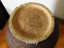 Vintage Unusual Studio Art Pottery Stoneware Vase Waistel Cooper Style/ Interest