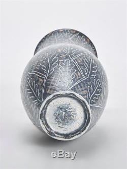 Vintage Van Der Straeten Studio Pottery Leaf Vase 1965