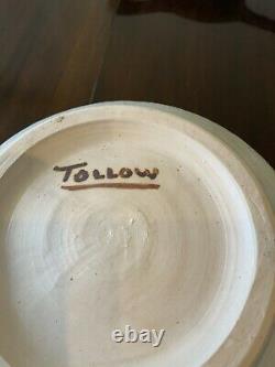 Vintage Vera Tollow Studio Pottery Lamp Base Measuring 27cm