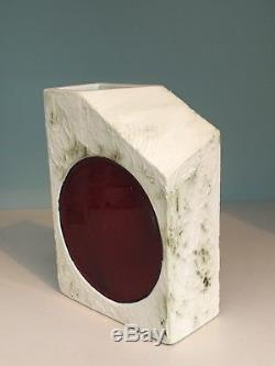 Vintage Very Rare Carn Studio Pottery Red Spot Slope Troika Era