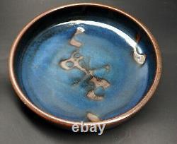 Vintage Walter Dexter Studio Pottery Shallow Bowl/Platter 10 1/2 Canadian