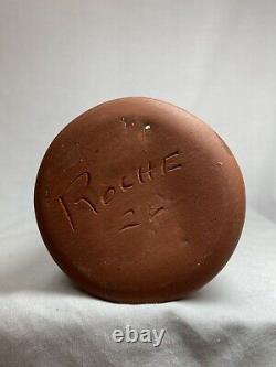 Vintage Walter Sullivan Roche Studio Pottery 11 Vase MCM