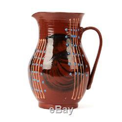 Vintage Welsh Llangollen Slipware Studio Pottery Jug 20th C