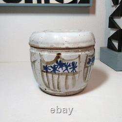 Vintage Wendell Brazeau (1910-1974) studio pottery jar NW mcm free US ship