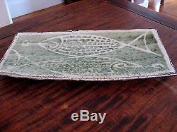 Vintage mid century Eunice Prieto Damron fish platter signed studio pottery