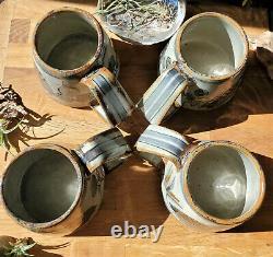 Vintage mid century Ken Edwards El Palomar Studio large mugs Tonala, Mexico