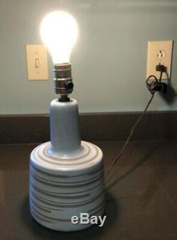 Vintage original Working Marshall Studios Martz Pottery table Lamp Signed MCM