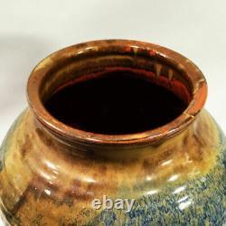 Vintage studio pottery. LARGE pot by Santa Barbara ceramicist Jerry Kry. No chips