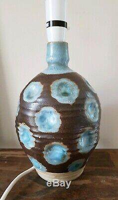Vintage studio pottery lamp base Marianne de Trey