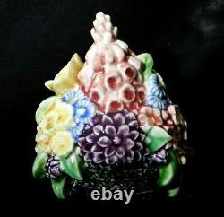 Vntg 1934 Rookwood Studio Art Pottery Spring Flower Basket Bookends Mold # 2837