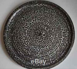 Vtg 13 1/2 Clyde Burt 1960s MCM Mid Century Studio Fat Lava Burst Glaze Platter