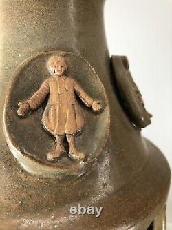 Vtg 70s Pottery Studio Vase Handcrafted 20 Ronald McDonald 8 Characters MCM