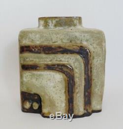 Vtg Helmut Schaffenacker German Mid-Century Modern Studio Art Pottery Vase V30