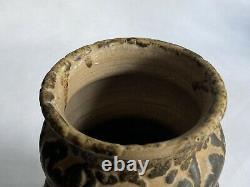 Vtg John Moakley Studio Art Pottery Vase MCM 1960s Modernist Brutalist Glaze
