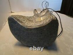 Vtg KELBY Studio ART Pottery Table LAMP Biomorphic Freeform Signed 1950-60's