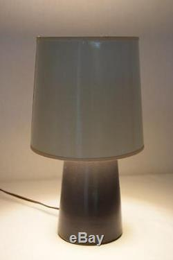 Vtg MCM 1960's Marshall Studios Pottery Gordan & Jane Martz Dark Grey Table Lamp