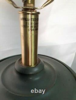 Vtg MCM Affiliated Craftsmen Bob Kinzie Studio Pottery Lamp Green