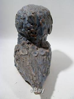 Vtg MIDCENTURY Studio Art POTTERY Abstract OWL Bird SCULPTURE Danish Modern