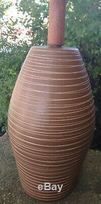 Vtg Mid Century Modern Gordon Jane Martz Marshall Studios Pottery Table Lamp