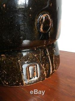 Vtg Mid Century Modern Malcolm Wright Tenmoku Studio Art Pottery Ceramic Vase