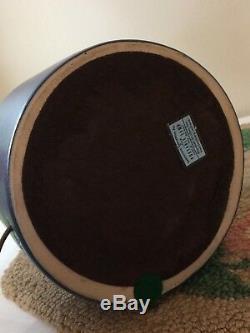 Vtg Mid Century Modern Martz Pottery Blue Table Lamp Signed Marshall Studios