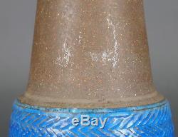 Vtg. Mid-Century NILS KAHLER HAK Danish Studio Pottery Vase Blue 1960s Stoneware