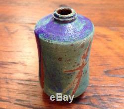 Vtg Mid Century Thomas Fetter Handmade Stoneware Studio Pottery Small Vase 3.25