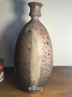 Vtg Mid Century Thomas Fetter Stoneware Studio Pottery LARGE 15 1960s