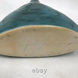 Vtg Pirgo Nylander Findland Art Pottery Face Vase Studio Handcrafted