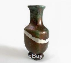 Vtg Rare JT Abernathy b. 1923 Studio Pottery Vase Raku Copper Cranbrook Academy
