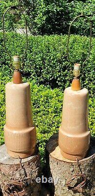 Vtg Rare Martz Marshall Studios Ceramic Pottery Table Lamps Mid Century Modern