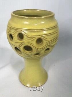 Vtg Robert Maxwell Modernist Mid Century Studio Art Pottery Candle Holder