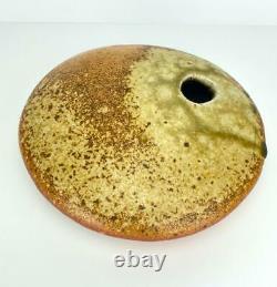 Vtg Shaner Studio Art Pottery Vase Vessel Stoneware Mid Century Modern Signed