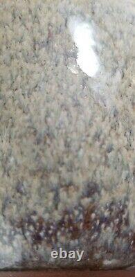 Vtg Studio Art Pottery New Clairvaux Vase 89 6 drip glaze beige Father Anthony