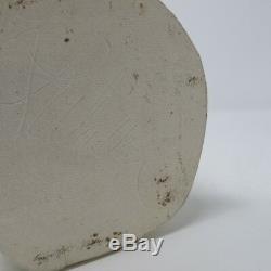Vtg Studio Pottery Mid Century Minimalist Tall Organic Folded White Vase Signed