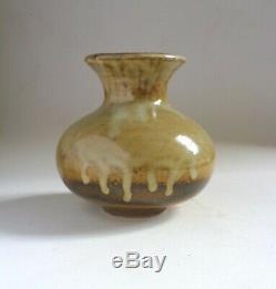 WAISTEL COOPER Vintage Ash Glazed Stoneware Small VASE. British Studio Ceramics