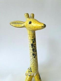 Walter Bosse ceramic giraffe vintage mid-century Karlsruher Majolika Austria MCM