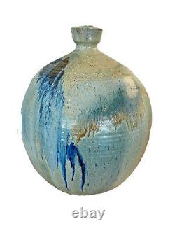 Walter Hartman Vtg Mid Century Modern Texas Studio Pottery Bowl Vase Vessel