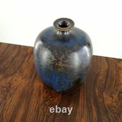 Willi Hornberger Studiokeramik Vase Kristallglasur German Studio Pottery Vintage