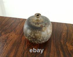 Willi Hornberger Studiokeramik Vase Kristallglasur German Vintage Studio Pottery